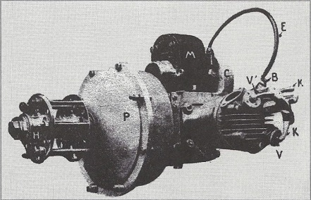 The Aviette engine with two opposed cylinders