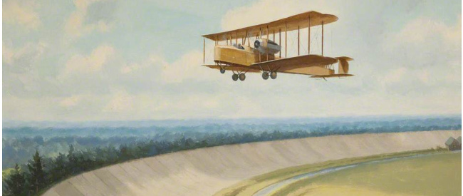 Vickers Vimy Over Brooklands by Roy Anthony Knockolds